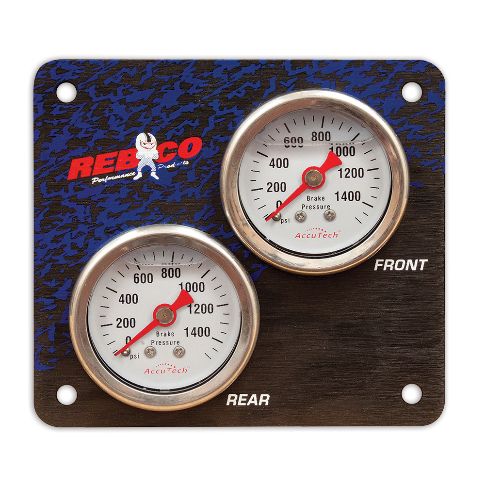 2 Gauge Mini Brake Bias Panel with AccuTech™ Gauges