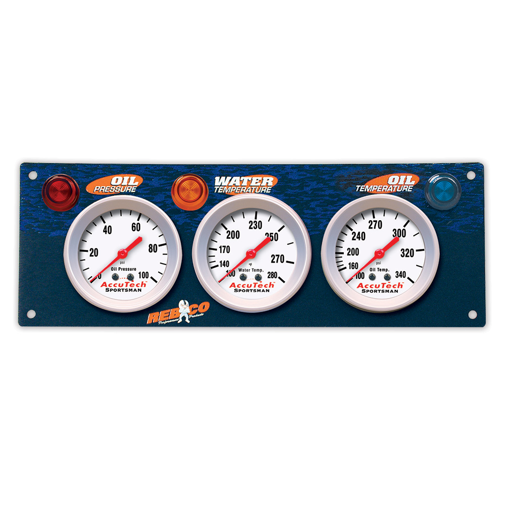 3 Gauge AccuTech™ Sportsman™ Gauge Panel - OP,WT,OT
