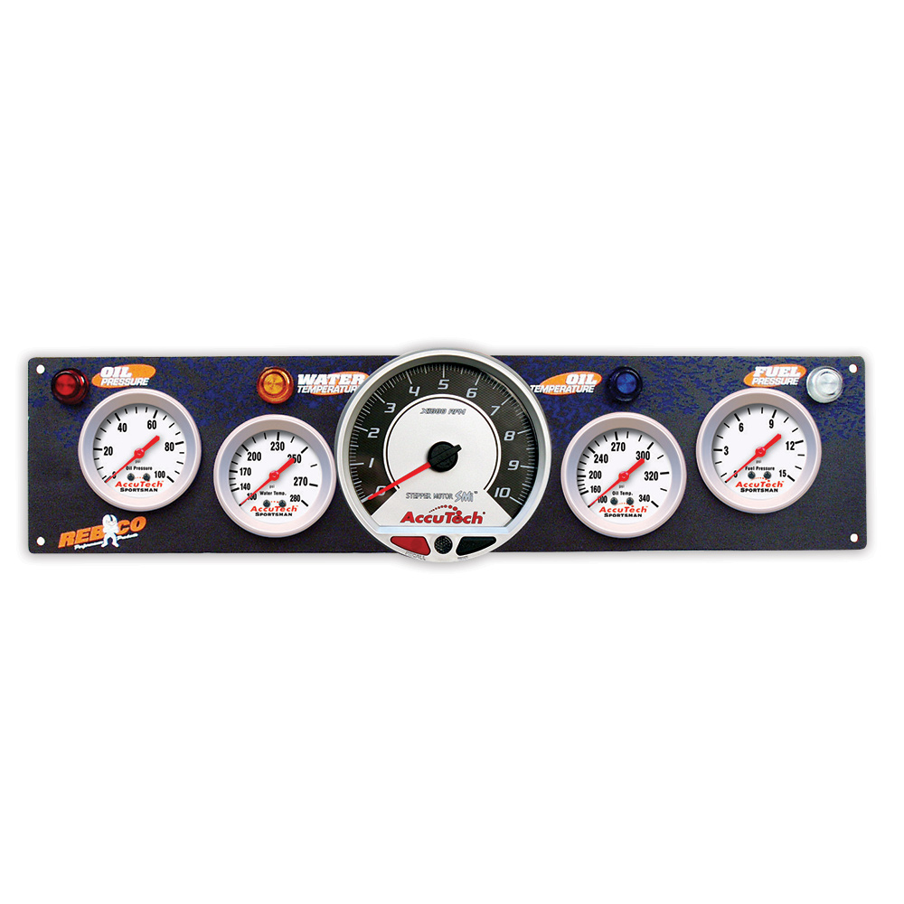 4 Gauge AccuTech™ Sportsman™ Panel w SMi™ Tachometer - OP,WT,OT,FP