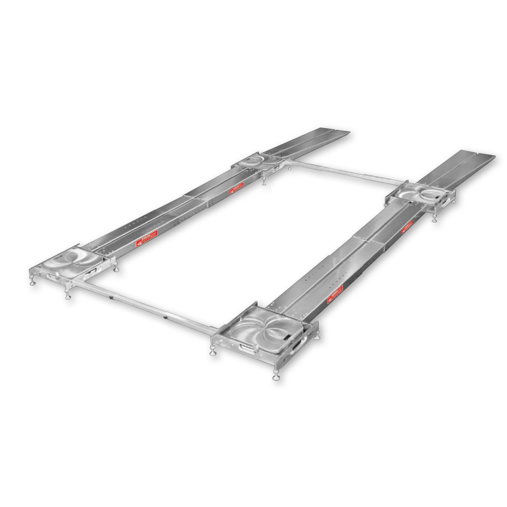 Adjustable Scale Platen Setup Fixture with 2 SideSliders