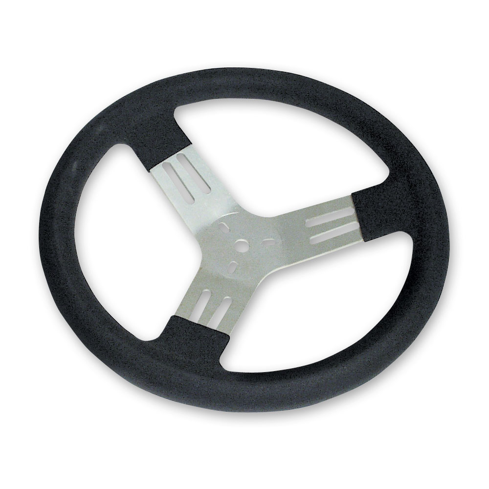 "13"" Kart Steering Wheel - Black"