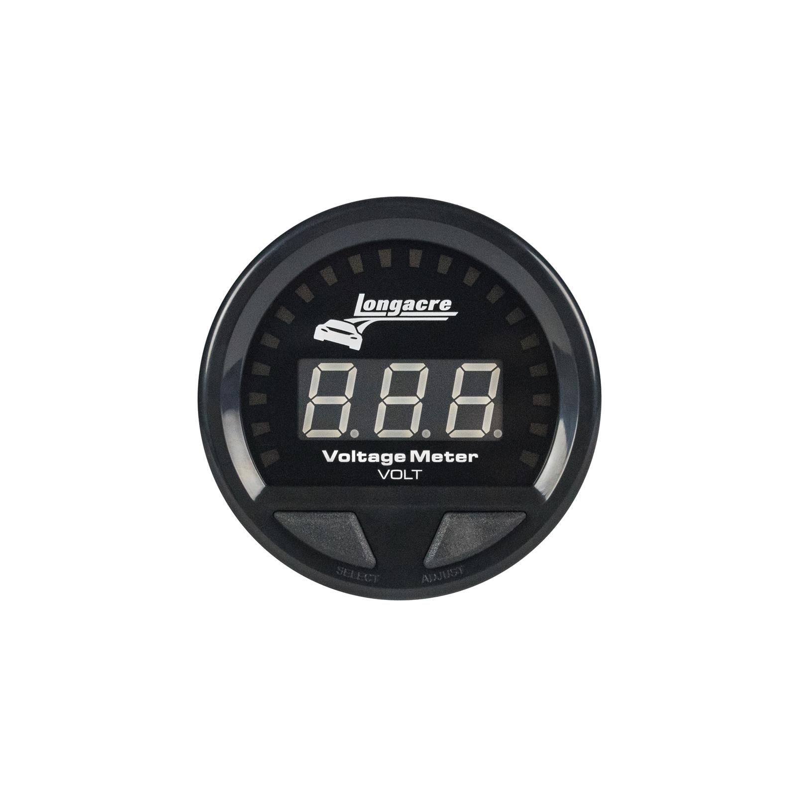 Digital Elite Waterproof Gauges, Volt Gauge 8-18, Sensor Included