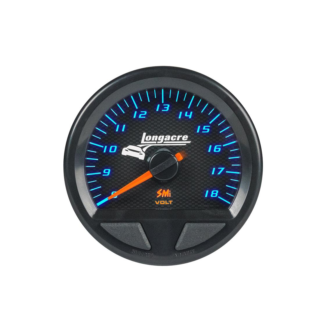 SMi™ Elite Waterproof Gauges, Volt Gauge 8-18, Sensor Included