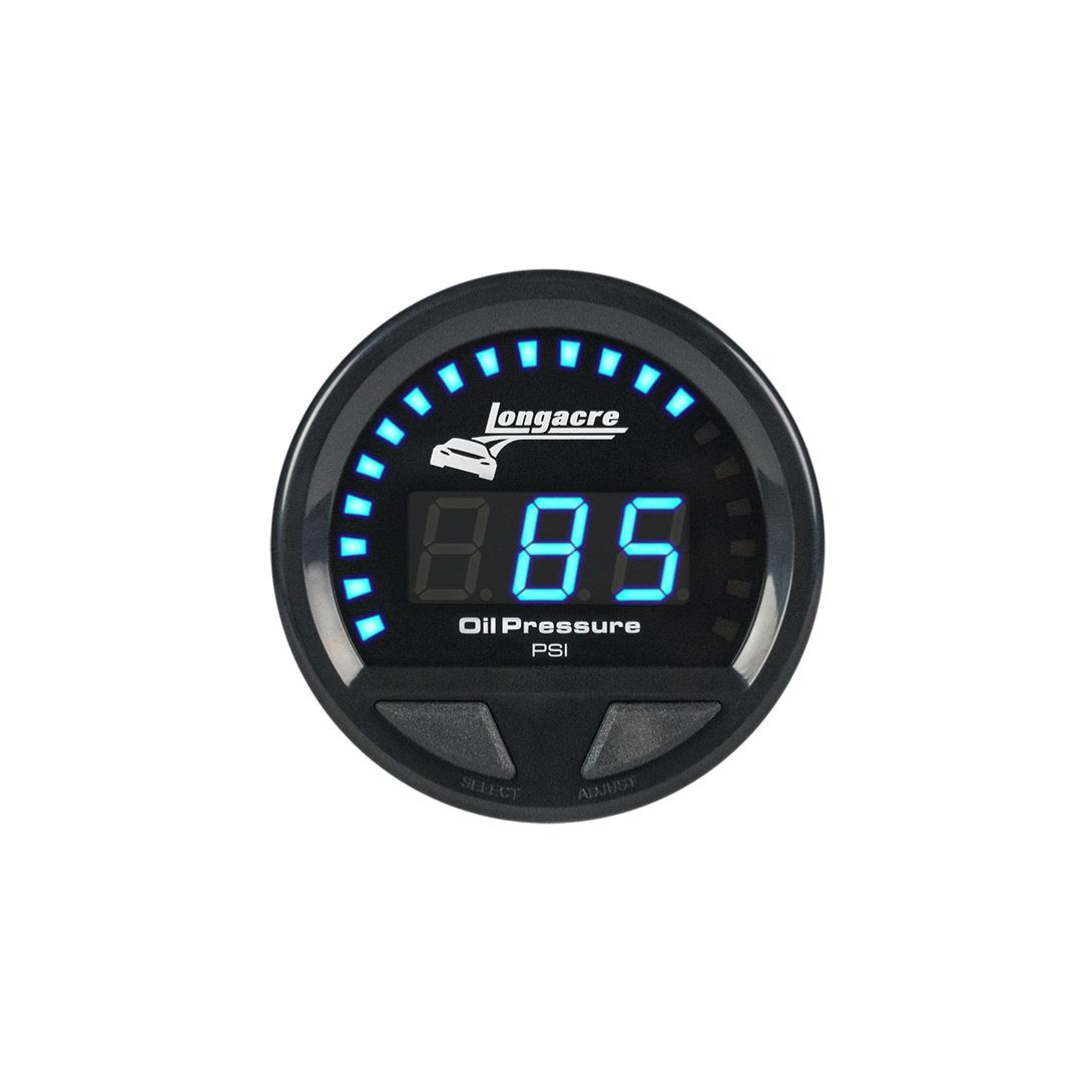 Digital Elite Waterproof Gauges, Oil Pressure 0-120 psi, Sensor Included