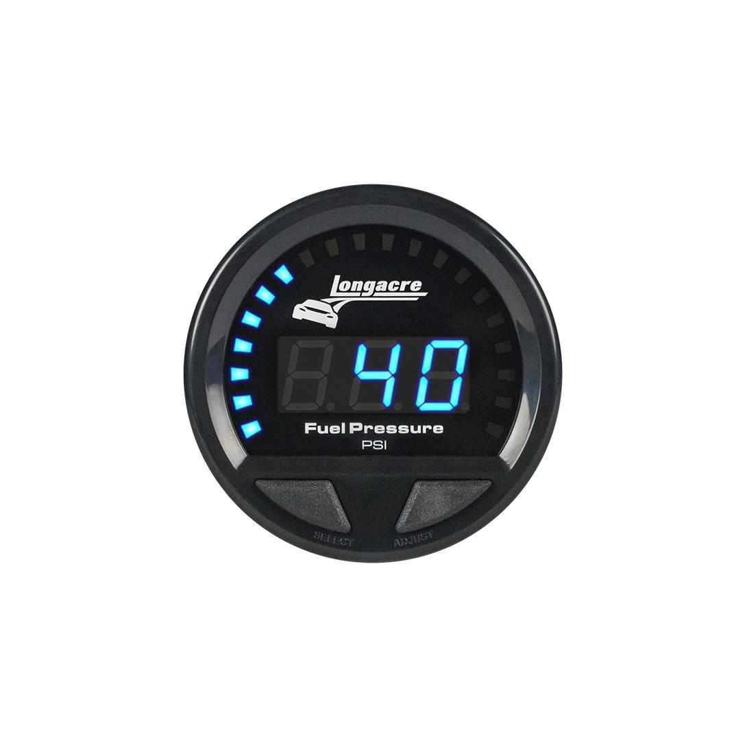 Digital Elite Waterproof Gauges, Fuel Pressure 0-120 psi, Sensor Included