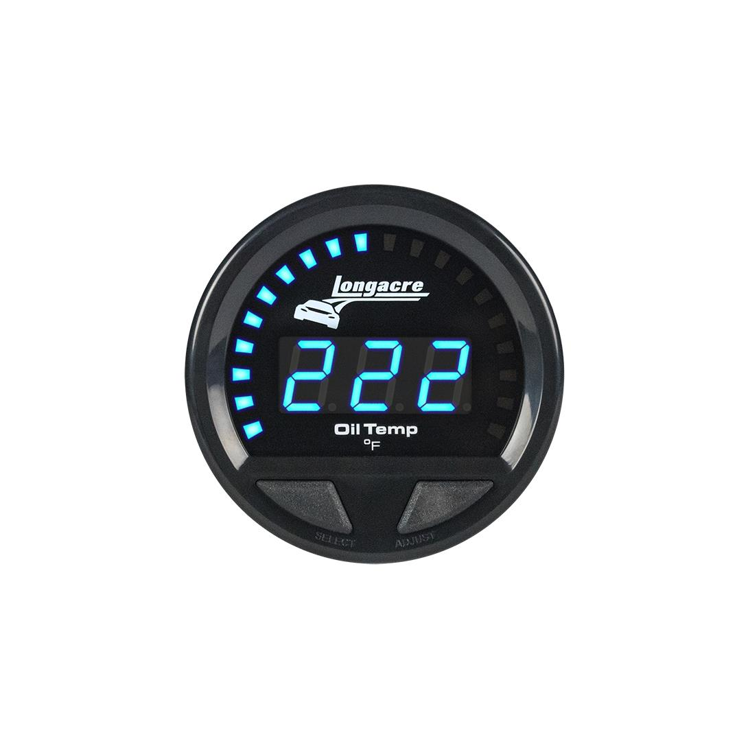 Digital Elite Waterproof Gauges, Oil Temperature 100-340, Sensor Included