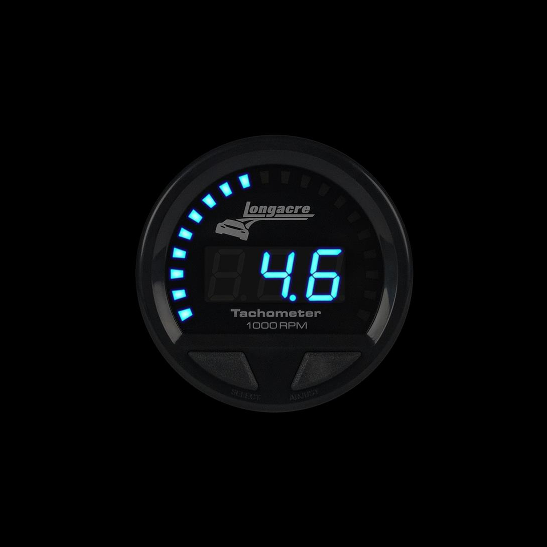 "Digital Elite Waterproof Tachometer 2-5/8"" Face"